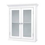 经典外观白色门浴室壁柜