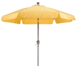 Yellow 7.5-Ft Outdoor Patio Umbrella with Push Button Tilt and Aluminum Pole