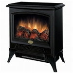 Compact Stove Style Electric Fireplace Space Heater in Black