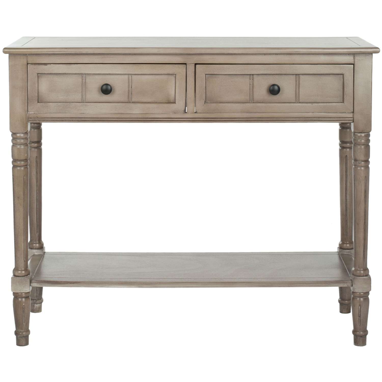 Console Accent Table Traditional Style Sofa In Distressed Cream