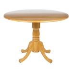 圆形英寸落叶橡木餐桌