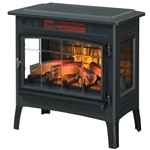 Black Infrared Quartz Electric Fireplace Stove Heater