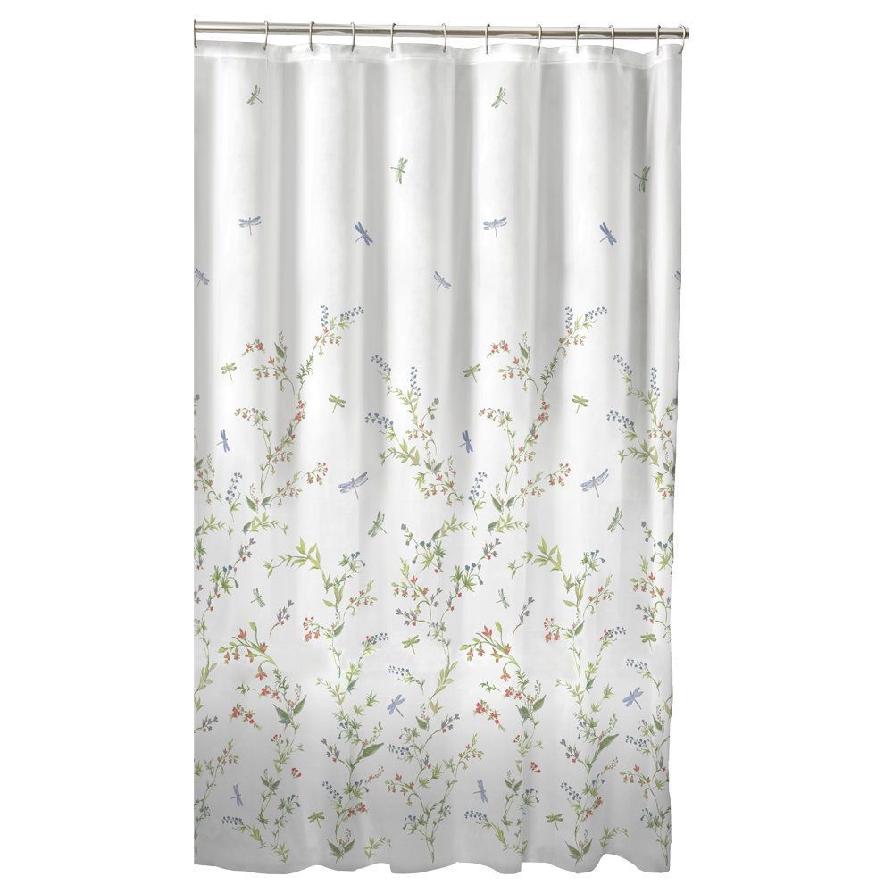 pretty dragonfly shower curtains. Floral Dragonfly Polyester Machine Washable Shower Curtain