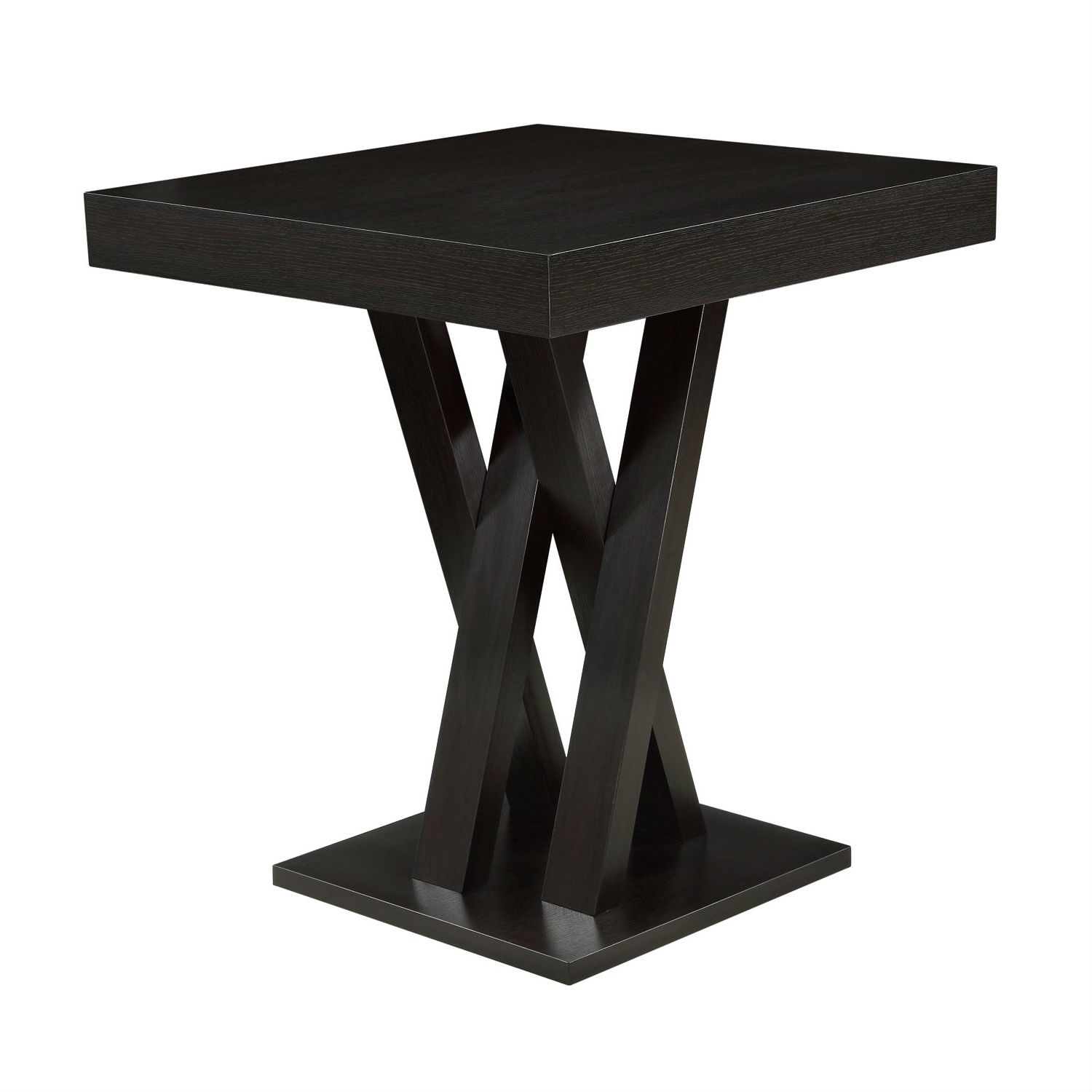 Modern 40 inch high square dining table in dark cappuccino finish retail price 33900 watchthetrailerfo