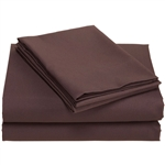 Full size 100% Super Soft Microfiber Sheet Set in Chocolate Brown