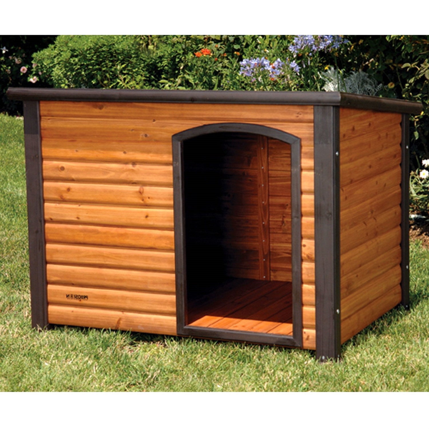 Solid Wood Dog House With Raised Floor