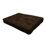 英寸厚的全尺寸优质线圈蒲团床垫,带有巧克力蒲团盖