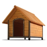 Solid Wood Outdoor A-Frame Dog House Weather-Resistant - Small Dogs up to 25 lbs