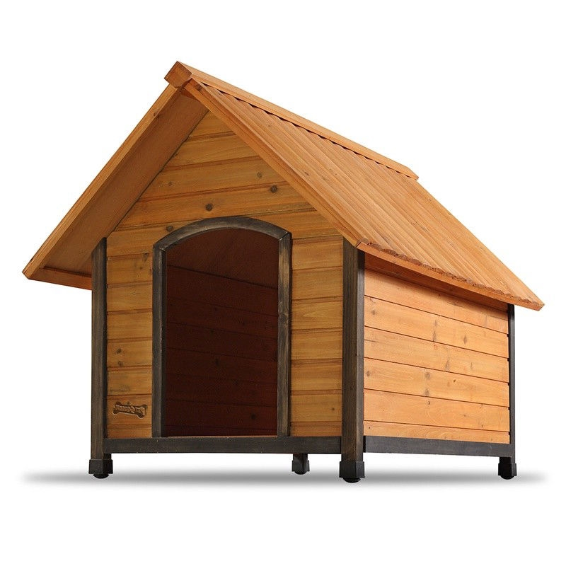Solid Wood Outdoor A-Frame Dog House Weather-Resistant - Small Dogs ...