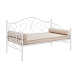 Twin size White Metal Day Bed Frame - 600 lb Weight Limit