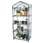 Durable 4-Tier Plant Stand Greenhouse with Zippered PVC Cover