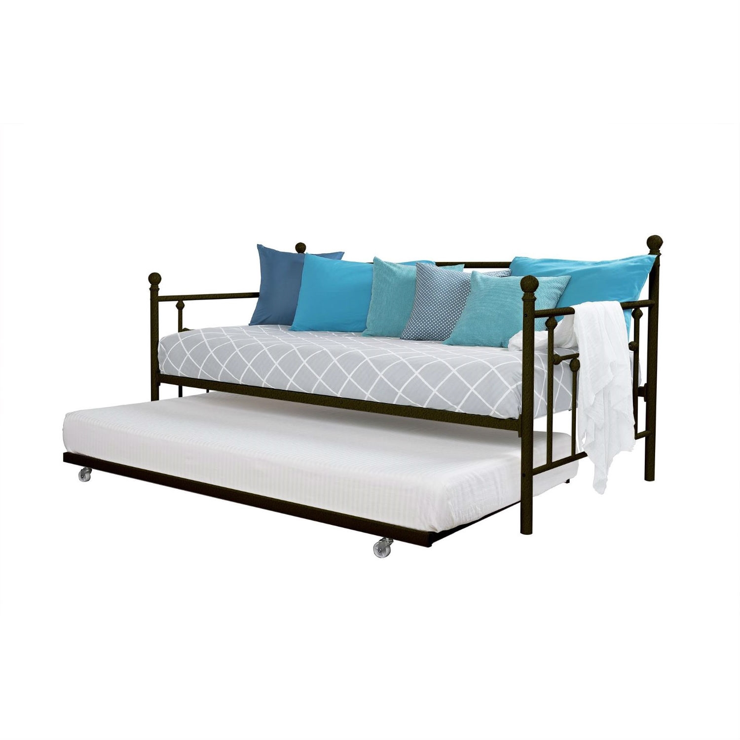 Metal Daybed With Pull Out Trundle Bed