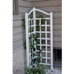 5.5 Ft Corner Trellis in White Vinyl - Made in USA