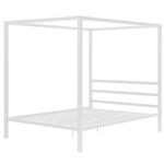 Queen size Sturdy Metal Canopy Bed Frame in White Finish