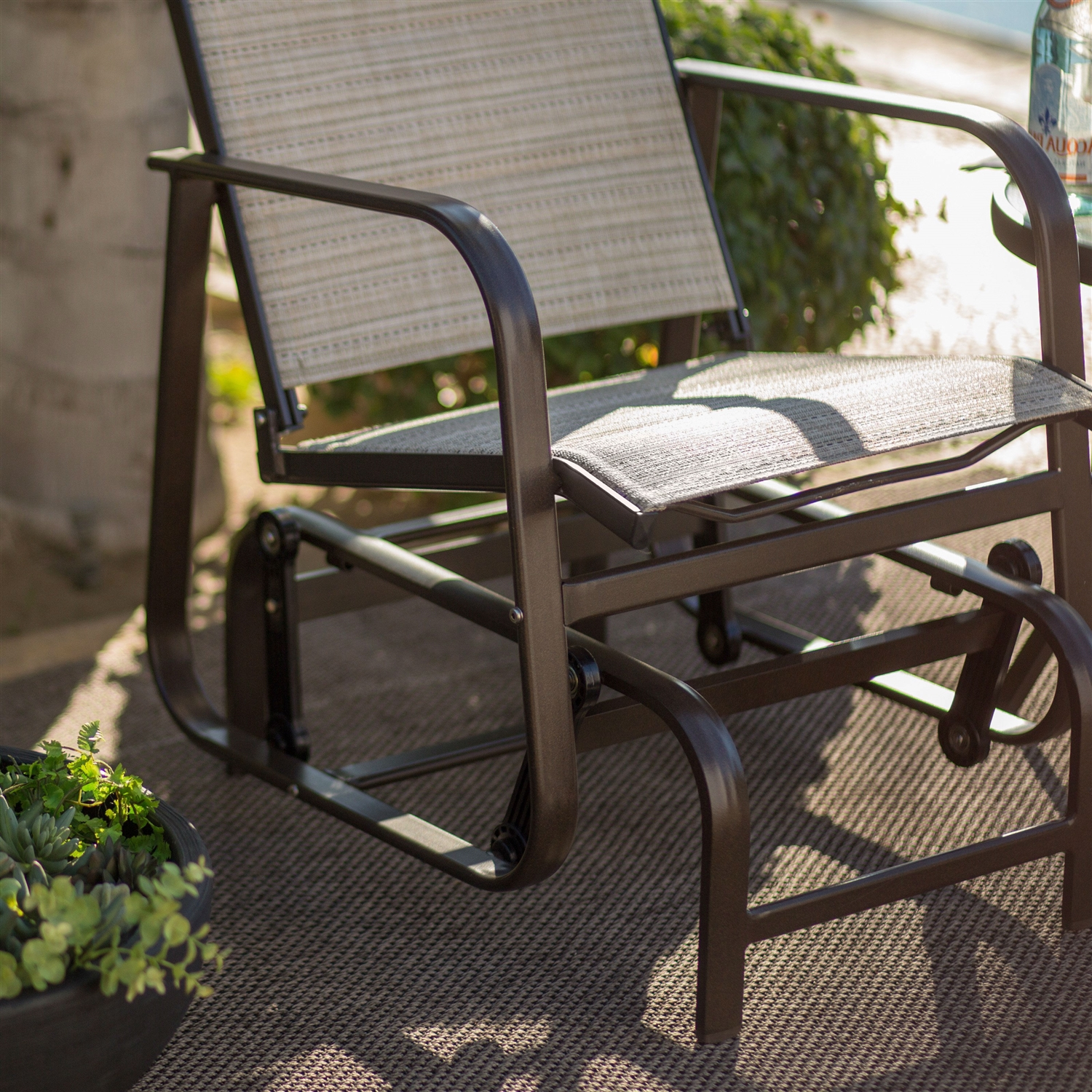 gliders natural trays chair post outdoor glider cg p country jack with garden patio