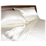 California King size Lustrous Satin Sheet Set in Ivory Color