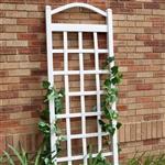 Ft白色乙烯基花园网格与拱顶与地面安装锚