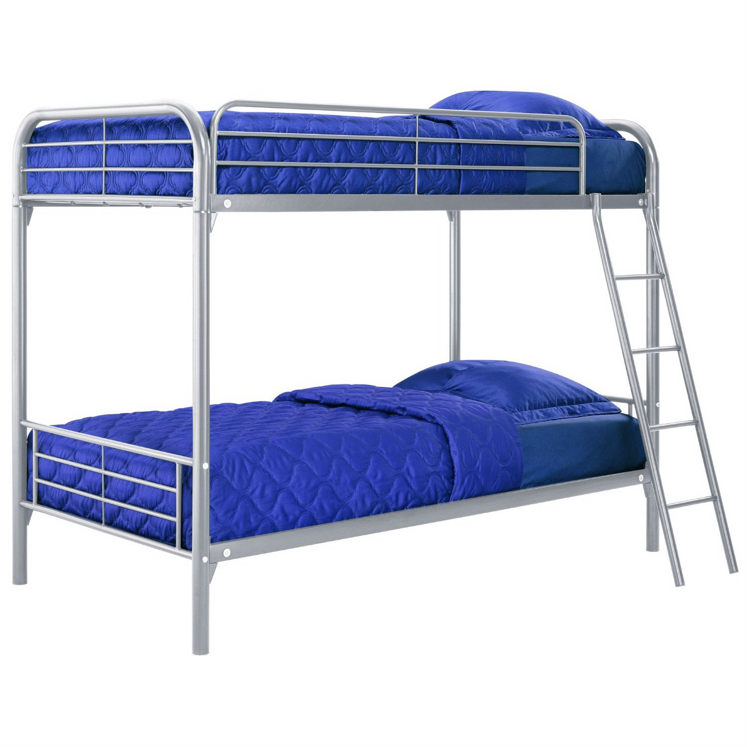 Twin Over Twin Size Silver Metal Bunk Bed Fastfurnishingscom