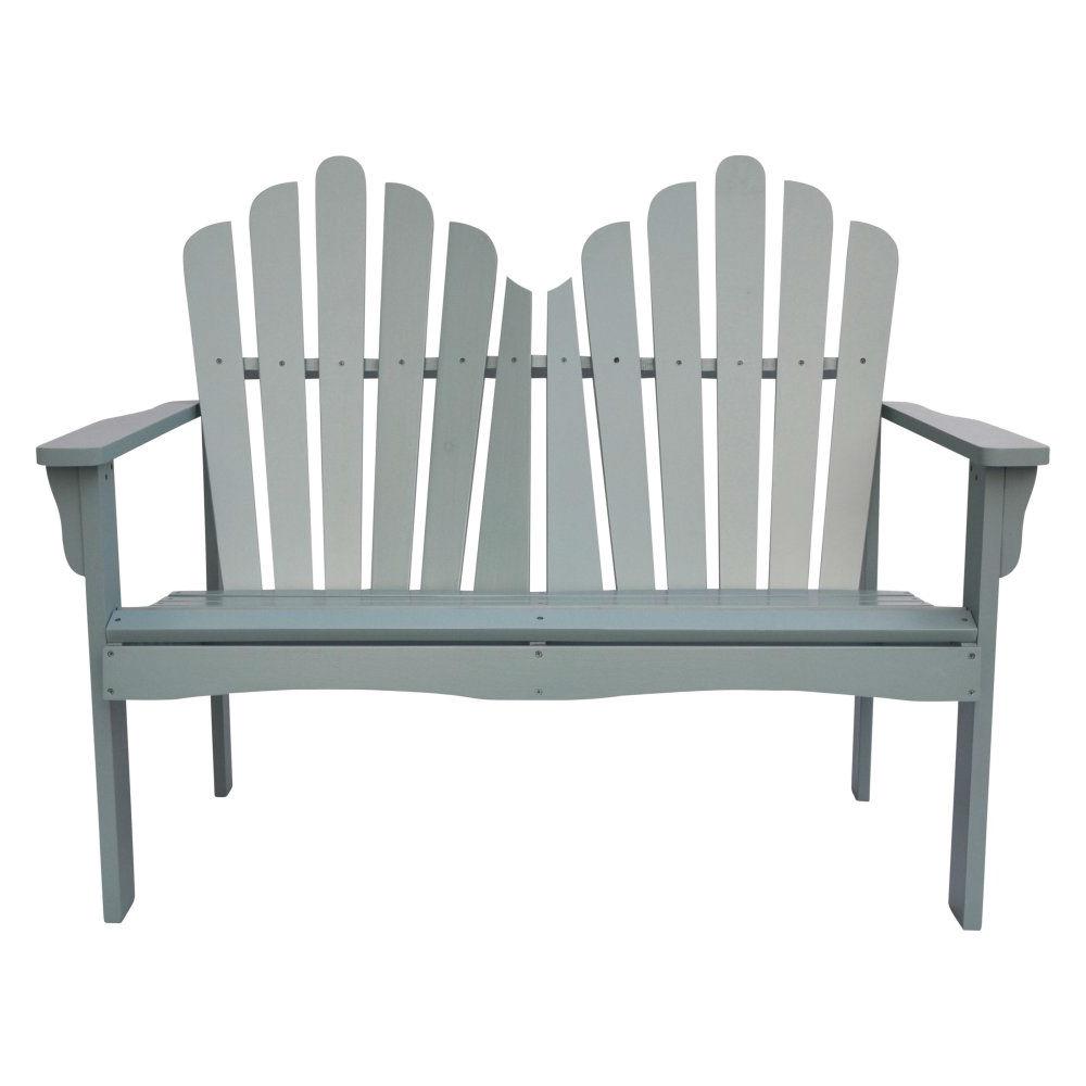 Magnificent Outdoor Cedar Wood Garden Bench Loveseat In Dutch Blue Finish Alphanode Cool Chair Designs And Ideas Alphanodeonline
