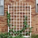 8 Ft Wall Mounted Trellis in White Vinyl - Made in USA