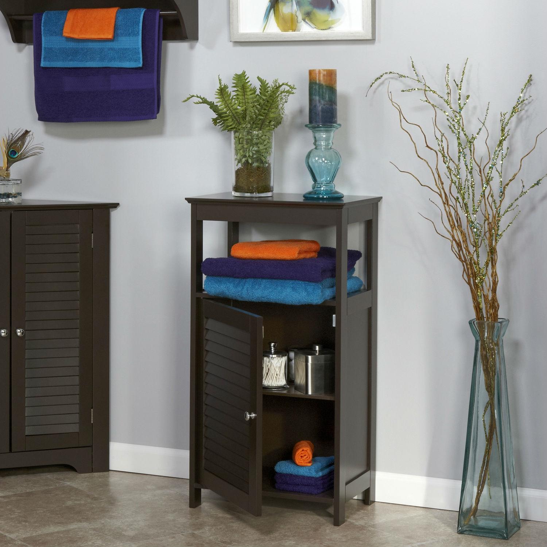 Modern Bathroom Floor Cabinet Free Standing Storage Unit in ...