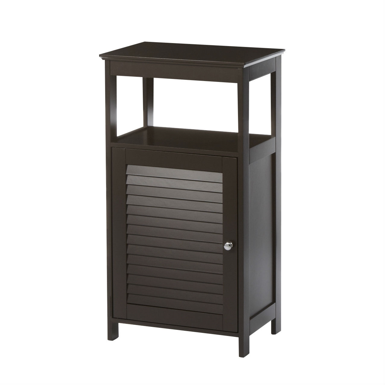 Modern Bathroom Floor Cabinet Free Standing Storage Unit in Espresso ...