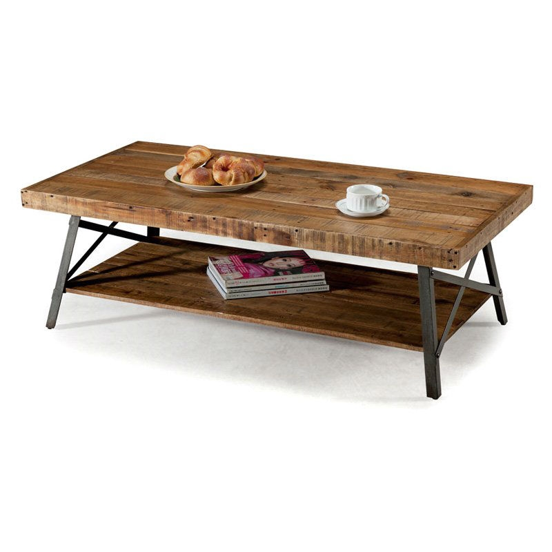 Reclaimed Wood And Metal Coffee Table: Industrial Chic Modern Classic Reclaimed Wood And Metal