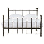 Full size Bronze Metal Platform Bed Frame with Headboard and Footboard
