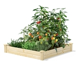 4 ft x 4 ft Pine Wood Raised Garden Bed - Made in USA