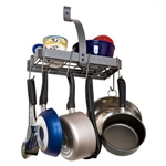 Wall Mounted Kitchen Storage Shelf Pot Rack with Drywall Anchors