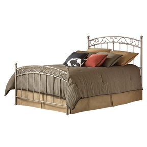 Queen size Gentle Arch Metal Bed with Headboard and Footboard