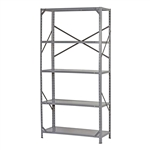 Commercial Steel Freestanding 5-Shelf Unit with Rubber Feet
