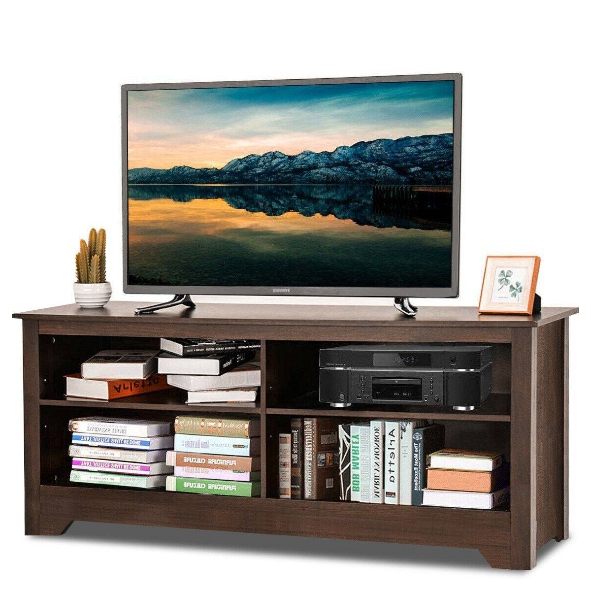 Contemporary TV Stand For Up To 60 Inch TV In Espresso Finish |  Fastfurnishings.com