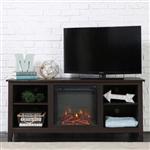 浓咖啡木寸电视支架电壁炉空间加热器