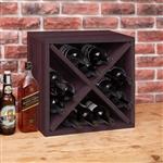 意式特浓咖啡色可堆叠瓶装酒架