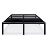 Queen size 18-inch High Rise Heavy Duty Metal Platform Bed Frame with Steel Slats