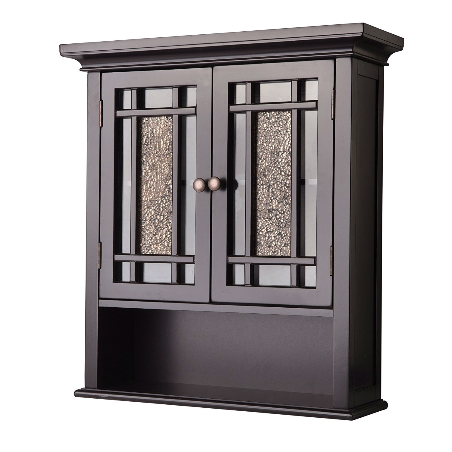 Espresso Bathroom Wall Cabinet With