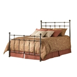 King size Metal Bed with Headboard and Footboard in Hammered Brown Finish