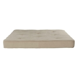 Full size 6-inch Thick Futon Mattress with Beige Tan Cover