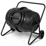 Outdoor Mobile 50-Gallon Compost Bin Tumbler on Wheels