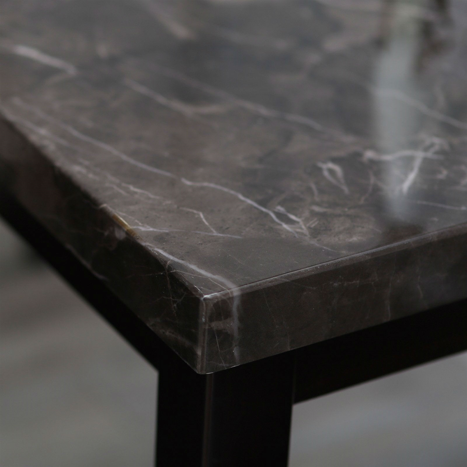 Black Marble Counter Height Dining Set