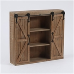 Farmhouse Sliding Bathroom Wall Mounted Cabinet 2-Doors & Shelvess
