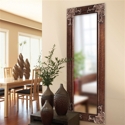Full Length 63 In Wall Mirror With Quality Wood Frame And