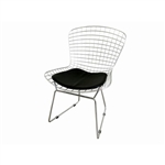 Wire Side Chair / Dining Chair with Vinyl Seat Pad