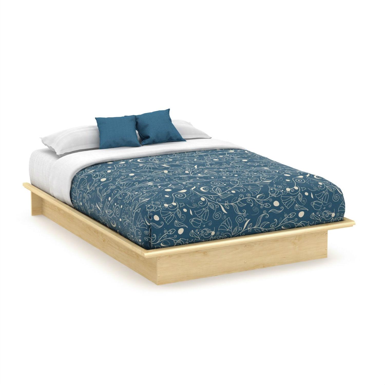 Full size Modern Platform Bed Frame in Natural Maple Finish ...