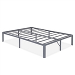 Full Heavy Duty Grey Metal Platform Bed Frame with Round Corners