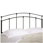 Full / Queen size Arch Headboard in Black Metal Finish