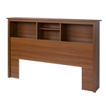 Full / Queen size Bookcase Headboard in Cherry Wood Finish