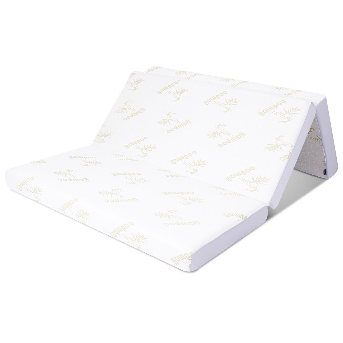 Full Size 6 Inch Thick Folding Memory Foam Mattress With Washable