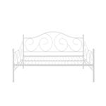 当代白色金属饰面的全尺寸沙发床